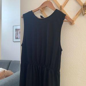 H&M - black tank maxi dress